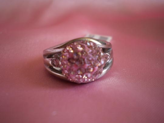 Other Pink Austrian Crystals in Stainless Steel (Size 7)