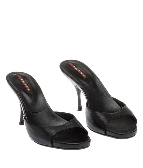 Prada Leather Sandal Black Pumps