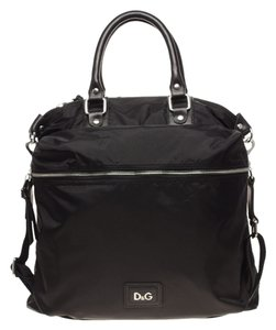Dolce&Gabbana Nylon Messenger Crossbody D & G Black Travel Bag
