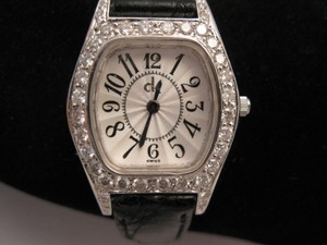 Luxurious 18 Karat Solid White Gold And Diamonds Watch. Swiss