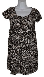 Mossimo Supply Co. short dress Black & Beige Animal Print Grunge Babydoll on Tradesy