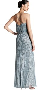 Adrianna Papell Blue Beaded Gown Bridesmaid Dress