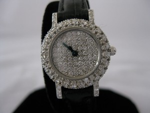 Luxurious 18 Karat White Gold And Over 2 Ctw Diamonds Watch. Swiss