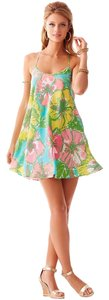 Lilly Pulitzer short dress Multicolor/ Floral Summer Floral Bright on Tradesy