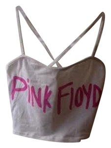 Pink Floyd Psychedelic Festival Layering Top White