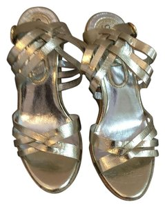 Charles by Charles David Wedges Sandals Gold Platforms