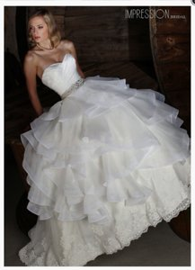 Impression Bridal 10351 Organza + Lace Wedding Dress Wedding Dress