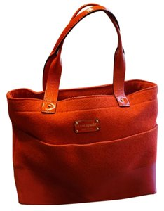 Kate Spade Felt Tote in Red and Pink