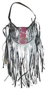 Nena & Co Leather Fringe Boho Festival Bohemian Shoulder Bag