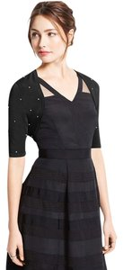 Ann Taylor Bolero Shrug Crystals Top Black