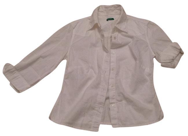 United Colors of Benetton Button-down Top Size 2 (XS) United Colors of Benetton Button-down Top Size 2 (XS) Image 1