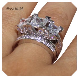 Other New 6.2TCW 2PC Wedding Engagement Ring Set Sz 6, 7, 8, 9 10