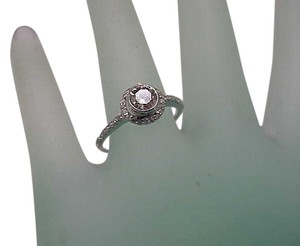 Other Estate 18K White Gold Old Cut Solitaire .50carats Diamond Ring