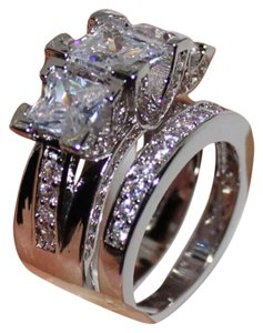 Other New 6.2TCW 2PC Wedding Engagement Ring Set Sz 8