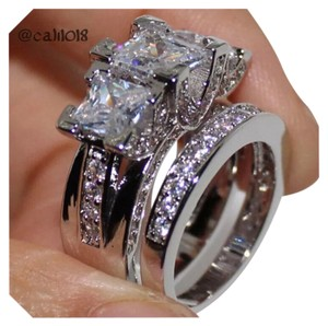 Other New 6.2TCW 2PC Wedding Engagement Ring Set Sz 10