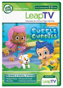 LeapFrog NEW & SEALED LeapFrog LeapTV Nickelodeon BUBBLE GUPPIES Video Game 3-5 yr