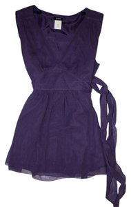 J.Crew V-neck Silk Sleeveless Top Purple