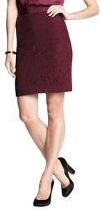 Ann Taylor Lace Pencil Skirt Pomegranate (wine)