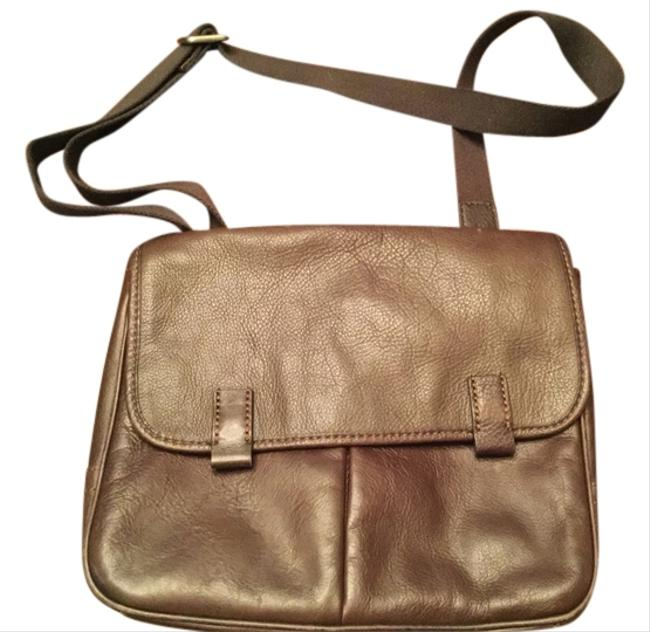 Item - Brown Leather Messenger Bag