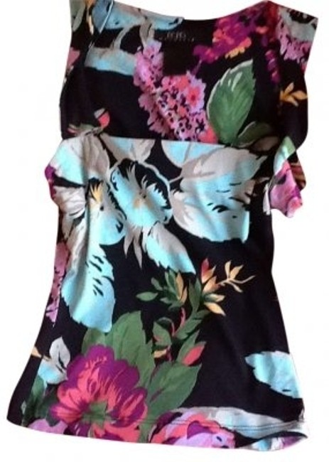 BCBGMAXAZRIA Floral Casual Twist Fantasy Casual Bcbg 2 Xs Sleeveless Bandage Top