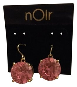 nOir Noir Pink Drop Earrings