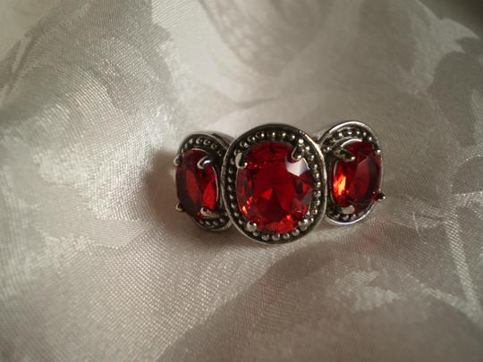 Other Simulated Red Diamonds in Stainless Steel (Size 7)
