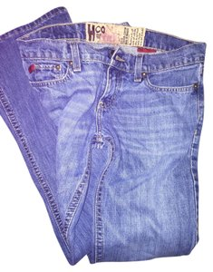 Hollister Flare Leg Jeans-Medium Wash