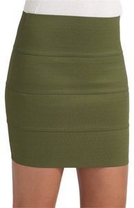 Pleasure Doing Business Mini Stretchy Spanx Bodycon Mini Skirt Olive