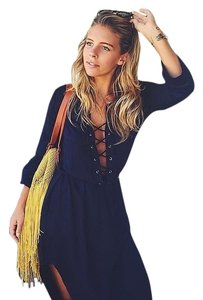 Navy Maxi Dress by Faithfull the Brand Maxi