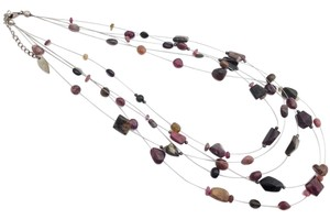 Coldwater Creek Coldwater Creek Quadruple Strand Multi-gemstone Necklace
