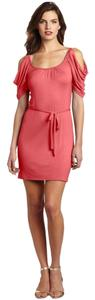 Wrapper short dress Coral on Tradesy