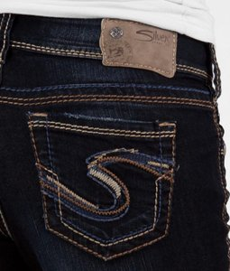 Silver Jeans Co. The Buckle Skinny Jeans-Dark Rinse
