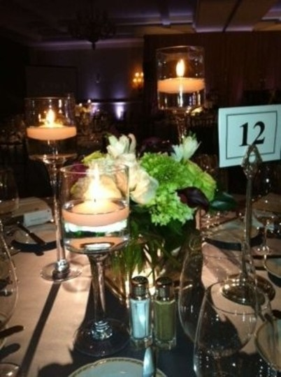 Clear Glass Candle Holder Sets Of 3 Reception Decoration