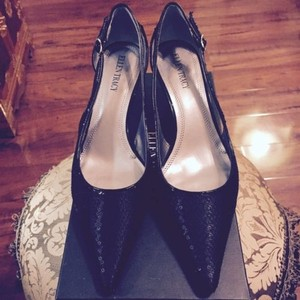 Ellen Tracy Slingbacks Black Pumps
