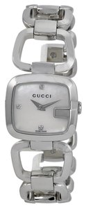 Gucci Mother of Pearl Diamond Silver Designer Dress Luxury watch