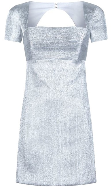 Preload https://item4.tradesy.com/images/sandro-silver-above-knee-cocktail-dress-size-2-xs-14400373-0-1.jpg?width=400&height=650