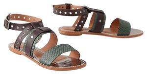 Leifsdottir Green & Brown Sandals