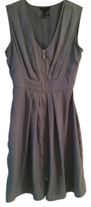 H&M short dress Blue-Gray Zipper on Tradesy