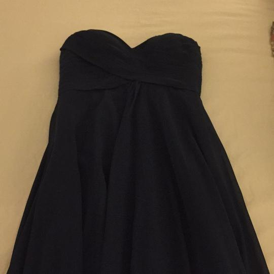 Allure Bridals Navy Chiffon Feminine Bridesmaid/Mob Dress Size 8 (M) Image 1