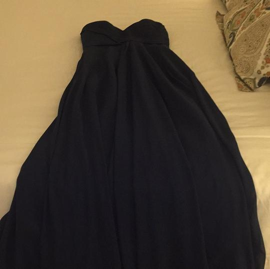 Allure Bridals Navy Chiffon Feminine Bridesmaid/Mob Dress Size 8 (M) Image 4