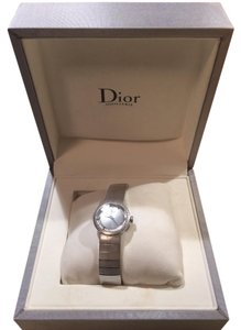 Christian Dior CHRISTIAN DIOR BABY D LADIES 23MM Silver WATCH- Diamond Dial