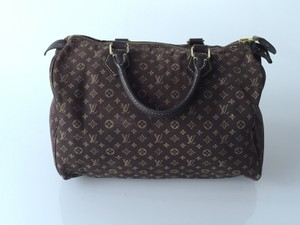 Louis Vuitton Neverfull Eva Damier Azur Satchel in Brown