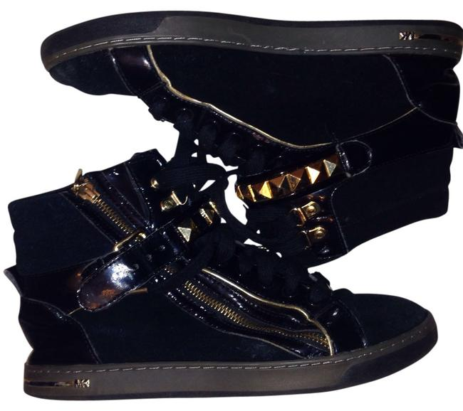 Item - Black Gold Glam Studded High Top Sneakers Size US 9 Regular (M, B)