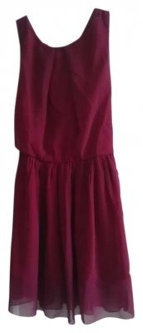 S&M short dress Maroon on Tradesy