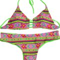 Other REVERSIBLE Tribal Aztec Lime Green Bikini