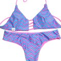 Other Chevon Pink/Blue Reversible Bikini
