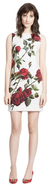 Preload https://img-static.tradesy.com/item/14402140/dolce-and-gabbana-white-red-floral-rose-brocade-short-cocktail-dress-size-4-s-0-11-650-650.jpg