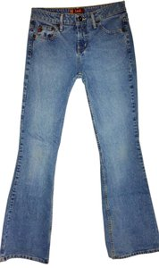 L.E.I. Medium Wash 3 Boot Cut Jeans-Medium Wash