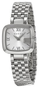 Gucci Silver Stainless Steel square Dial Designer ladies Watch
