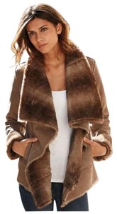 Alloy Apparel Faux Cascade Fur Coat